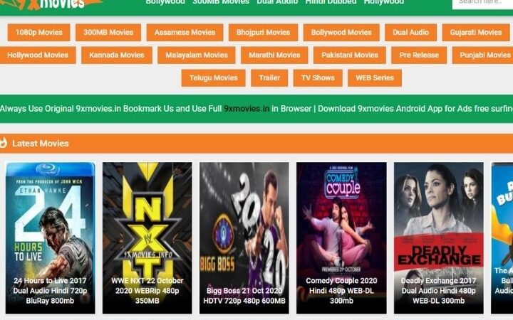 9x Movies [Updated 2020] – Free Bollywood Movies Download, Hollywood Movies With Dual Audio & Watch Cinema News From 9xmovies.in