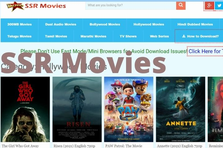 SSRMOVIES – Best Website To Download And Watch 4K Movies For FREE